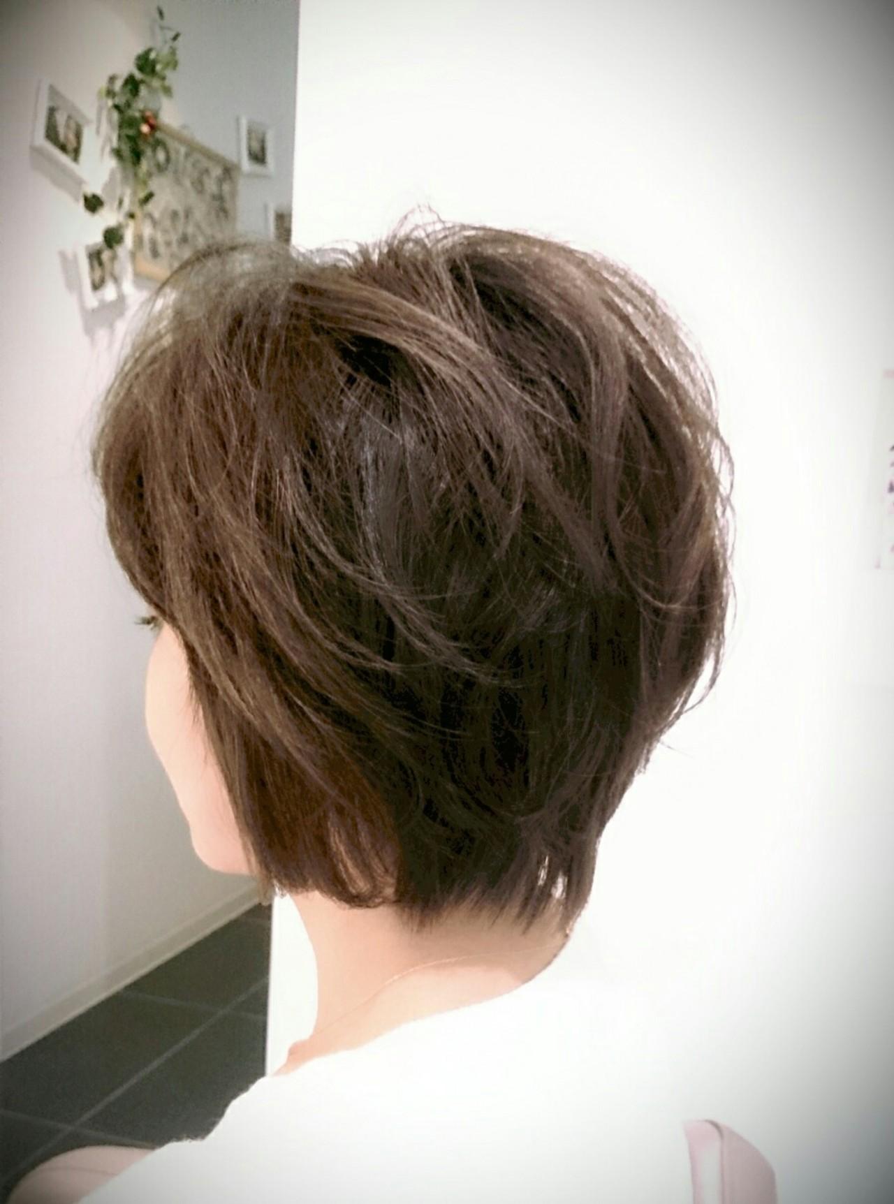 ナチュラル ショートボブ ショート ボブ ヘアスタイルや髪型の写真・画像