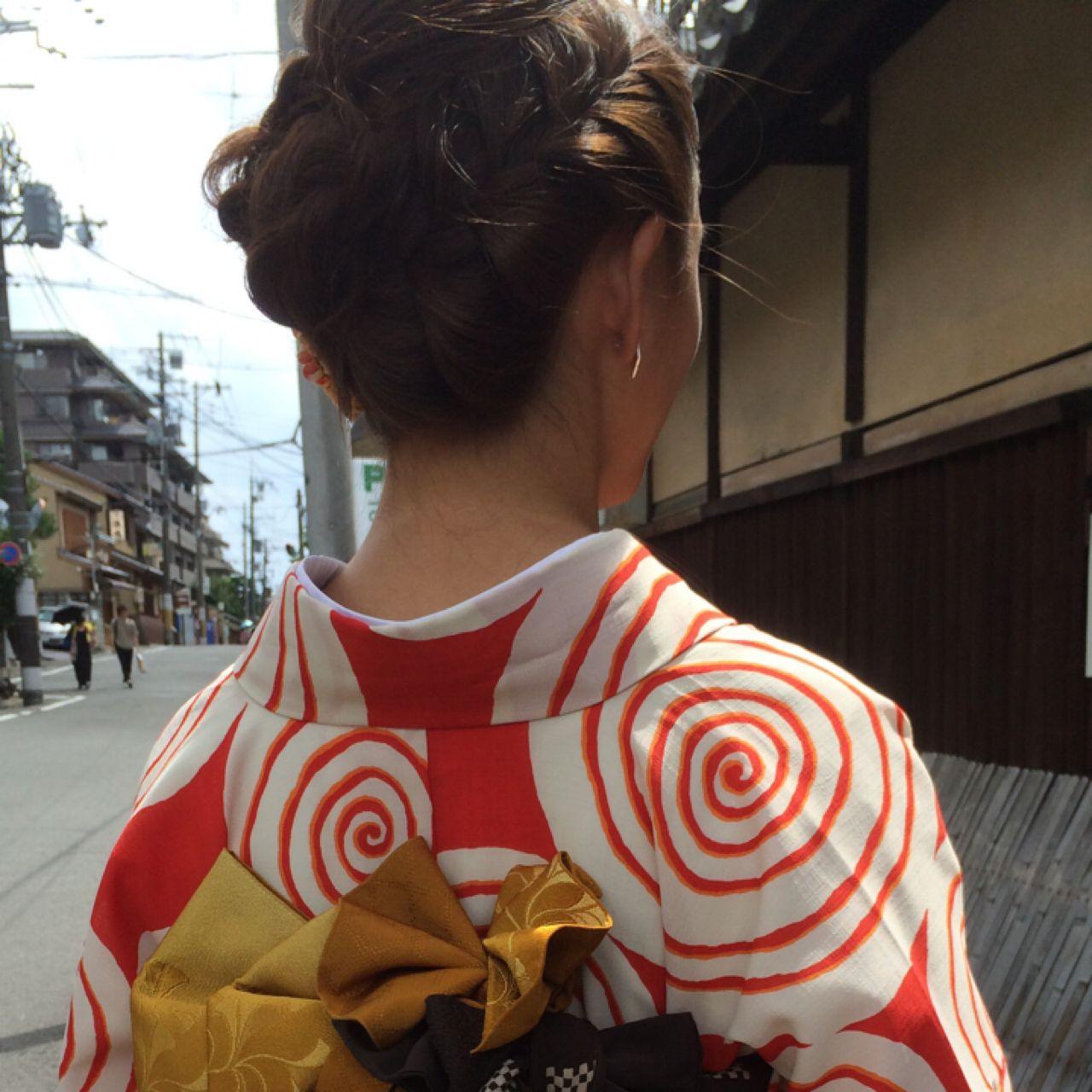 夏 卵型 お祭り 花火大会 ヘアスタイルや髪型の写真・画像