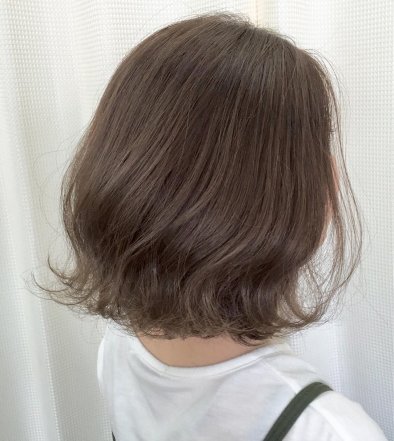 モード 外ハネ ボブ アッシュ ヘアスタイルや髪型の写真・画像