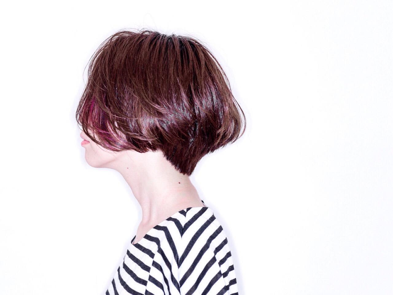 ボブ 外国人風 ショート ハイライト ヘアスタイルや髪型の写真・画像 | 友田 徳政 / Hair dressing Bis!
