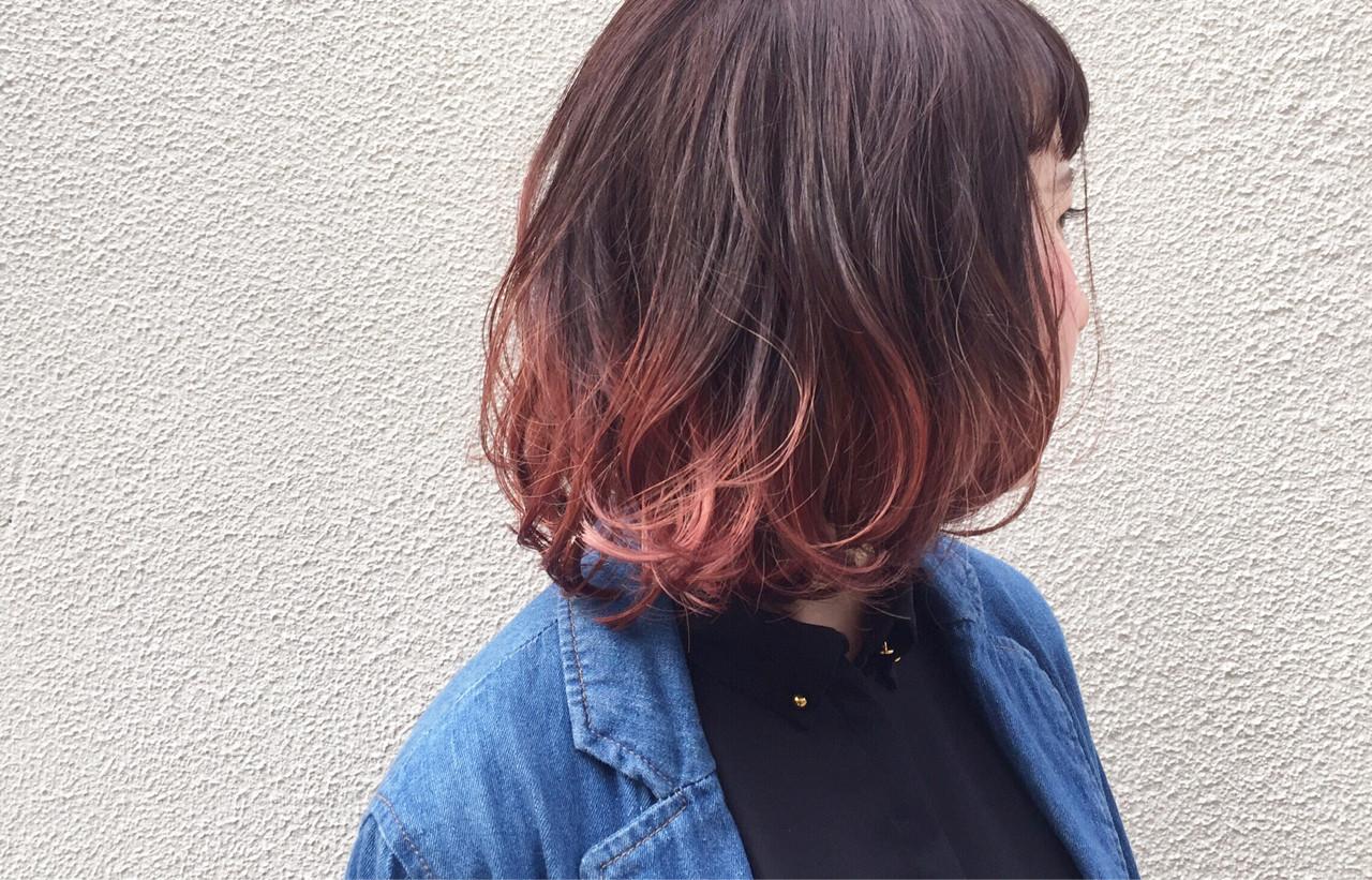 ダブルカラー ピンクアッシュ ピンク ストリート ヘアスタイルや髪型の写真・画像   漁野 陽介 / cache  nakazaki