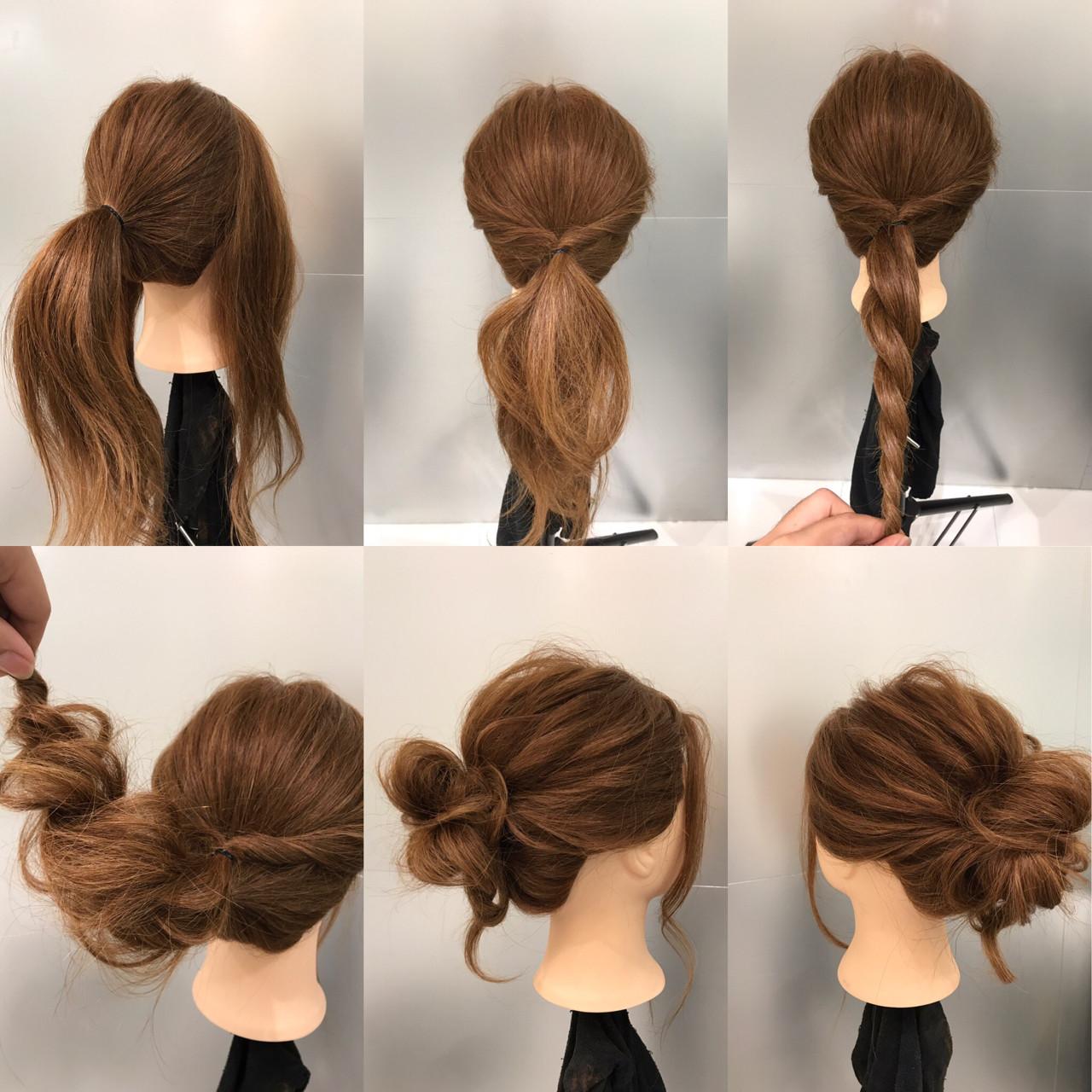 ナチュラル ヘアアレンジ ショート ロング ヘアスタイルや髪型の写真・画像