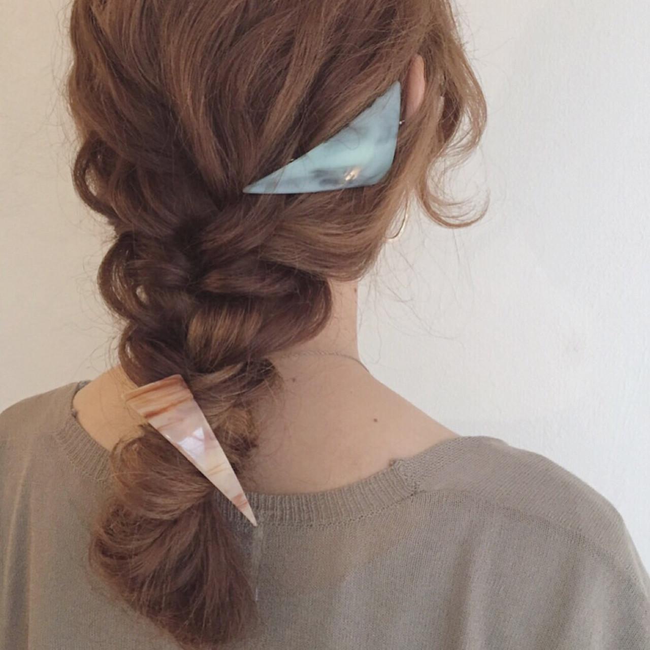 ロング ショート 編み込み 三つ編み ヘアスタイルや髪型の写真・画像