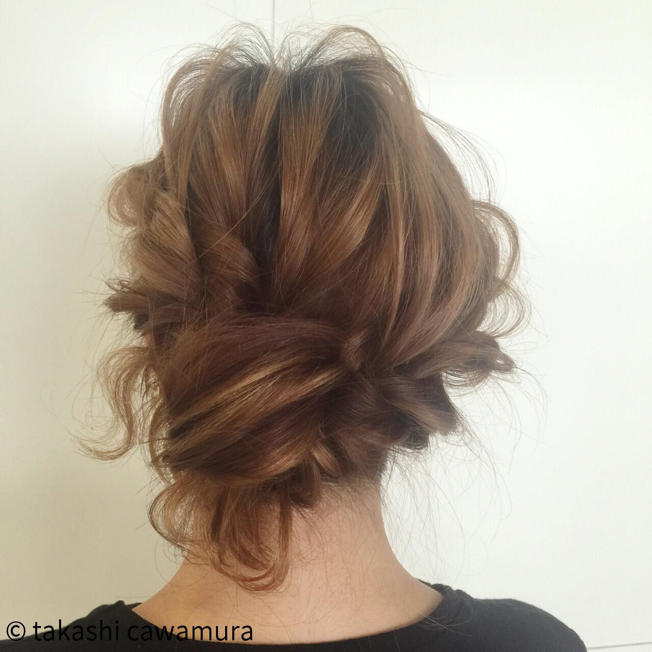 くるりんぱ 抜け感 大人かわいい ツイスト ヘアスタイルや髪型の写真・画像