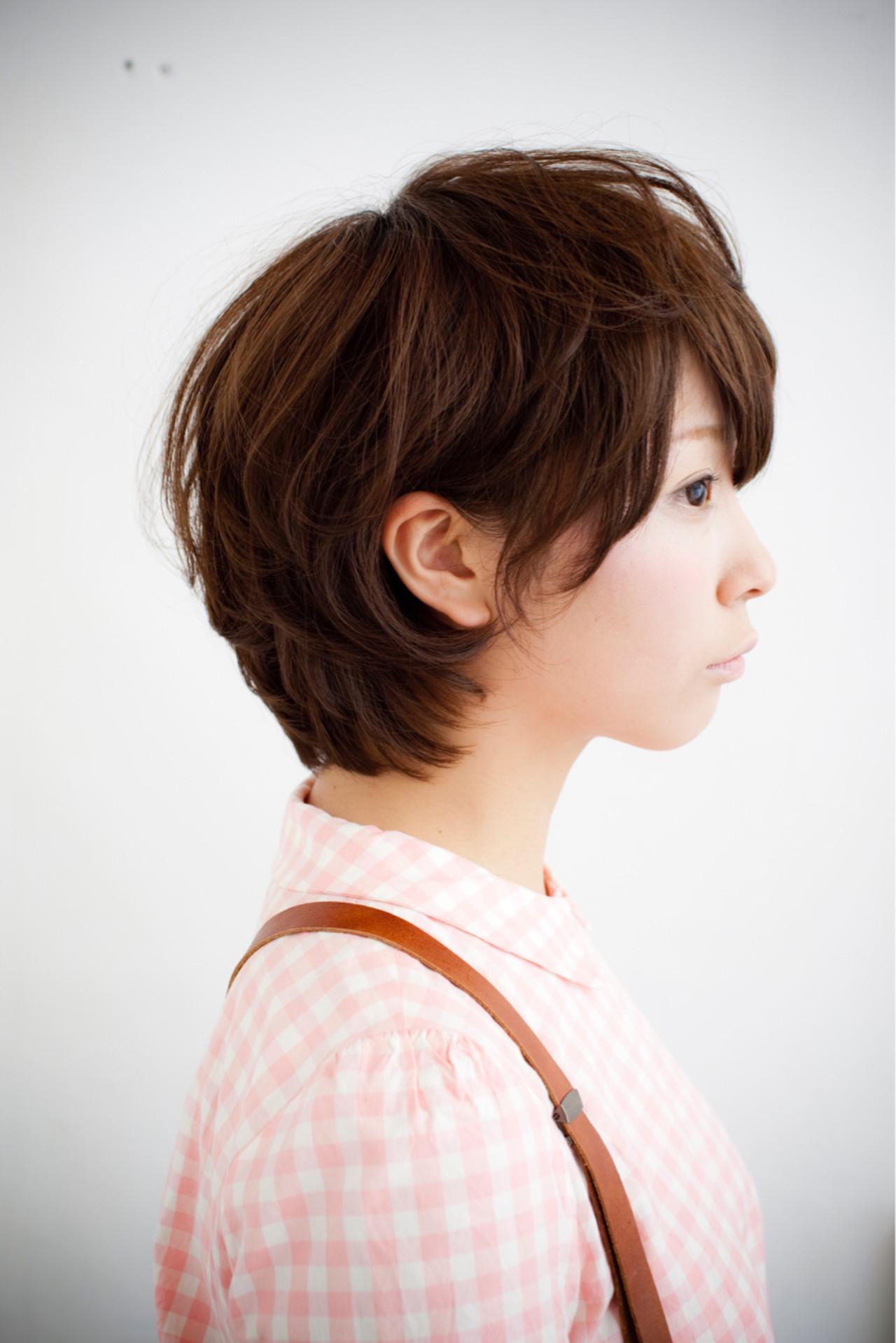 パーマ アッシュベージュ ショートボブ リラックス ヘアスタイルや髪型の写真・画像