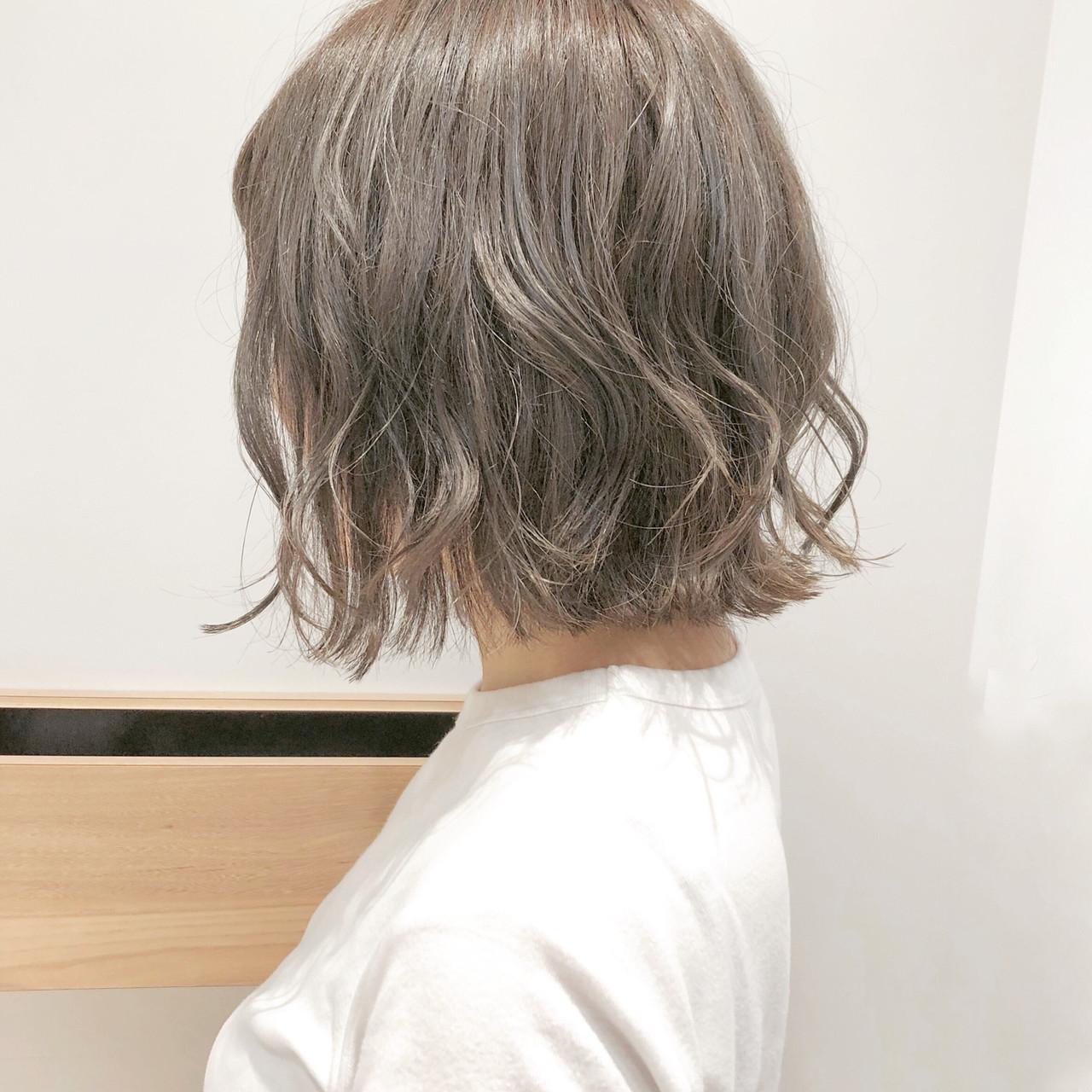 ナチュラル ショートボブ 切りっぱなしボブ ショートヘア ヘアスタイルや髪型の写真・画像