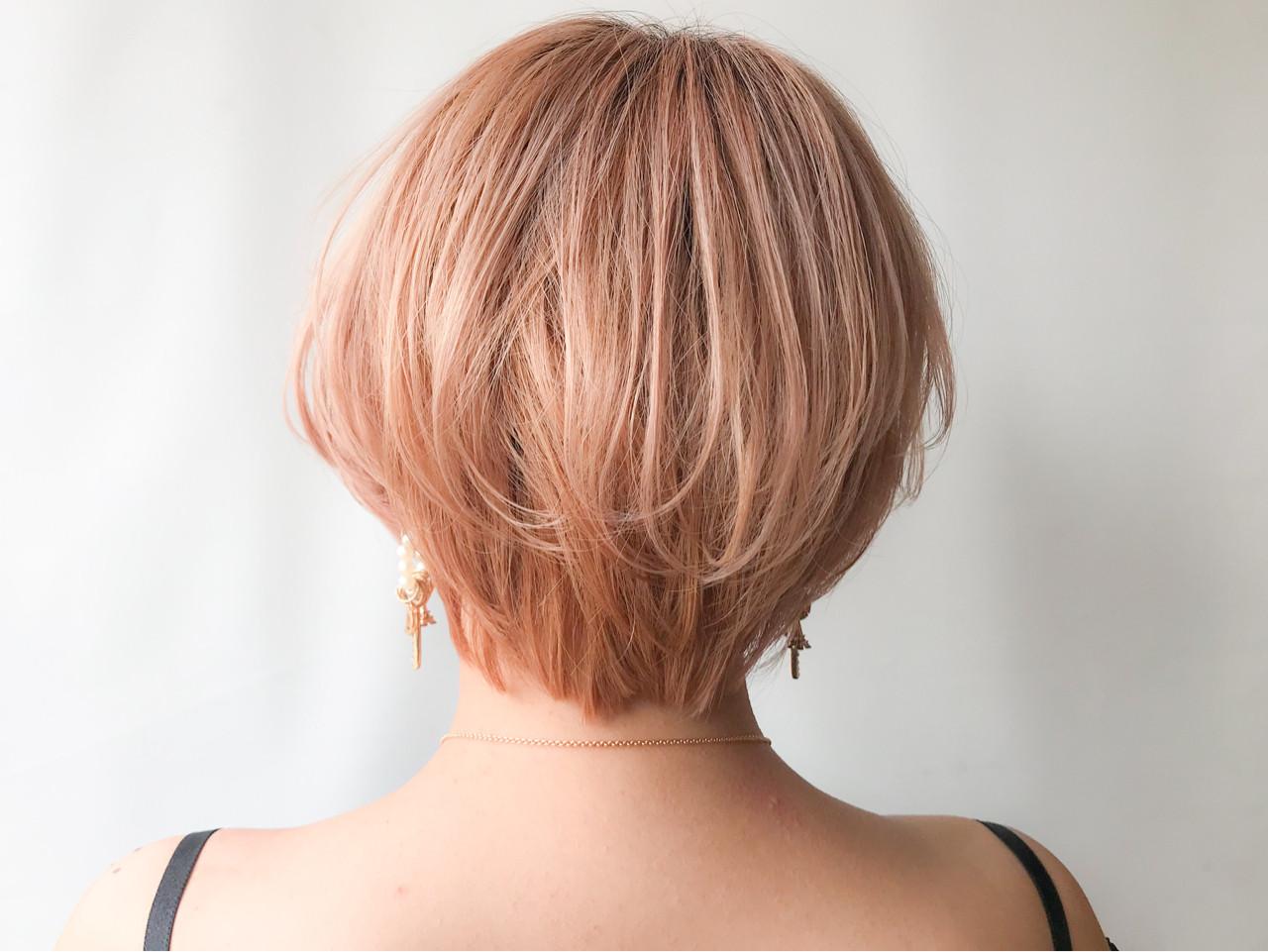 オフィス ショートボブ モテ髪 コンサバ ヘアスタイルや髪型の写真・画像