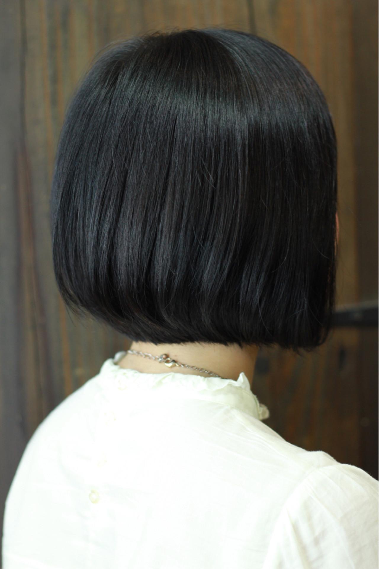 ナチュラル ワンカール 黒髪 大人女子 ヘアスタイルや髪型の写真・画像   大和田 誠 / Anphi 弘明寺