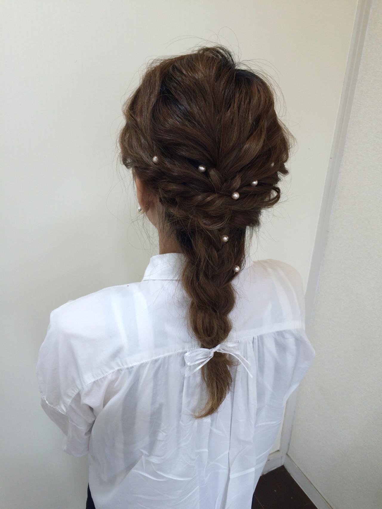 ショート ゆるふわ セミロング 結婚式 ヘアスタイルや髪型の写真・画像 | たまゆか / LeAF
