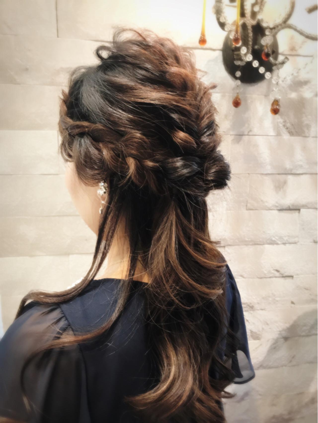 エレガント 上品 結婚式 ヘアアレンジ ヘアスタイルや髪型の写真・画像