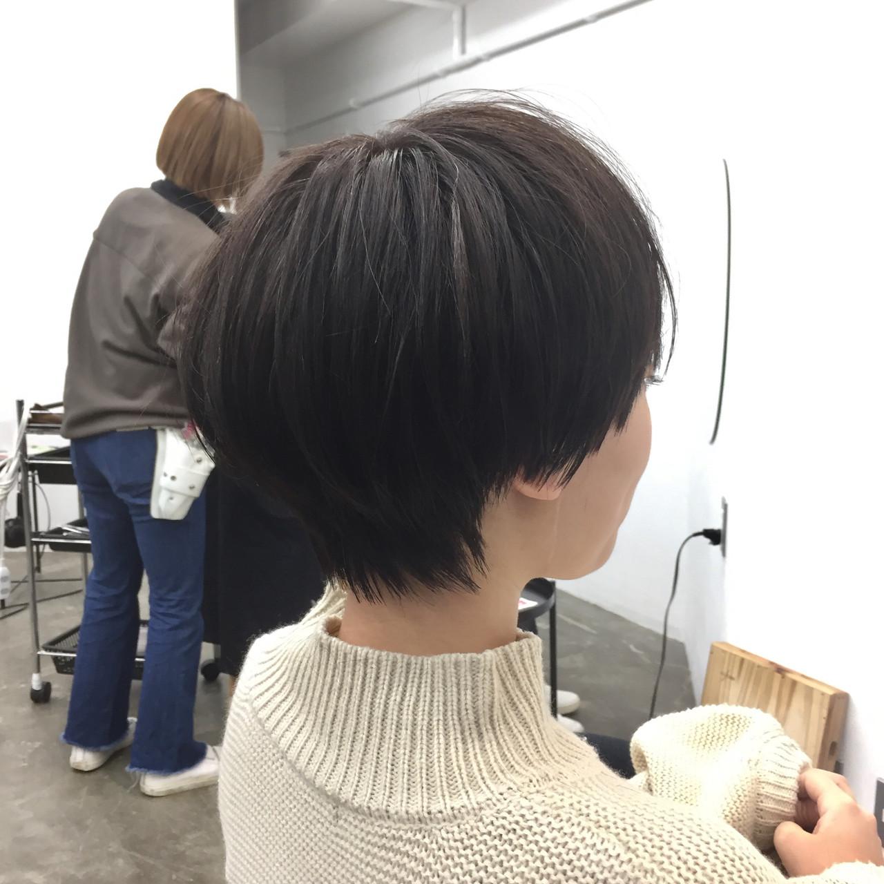 ハンサムショート 大人ショート ナチュラル 小顔ショート ヘアスタイルや髪型の写真・画像 | 【ショート&ショートボブはお任せください】淺川聖 / parc sapporo