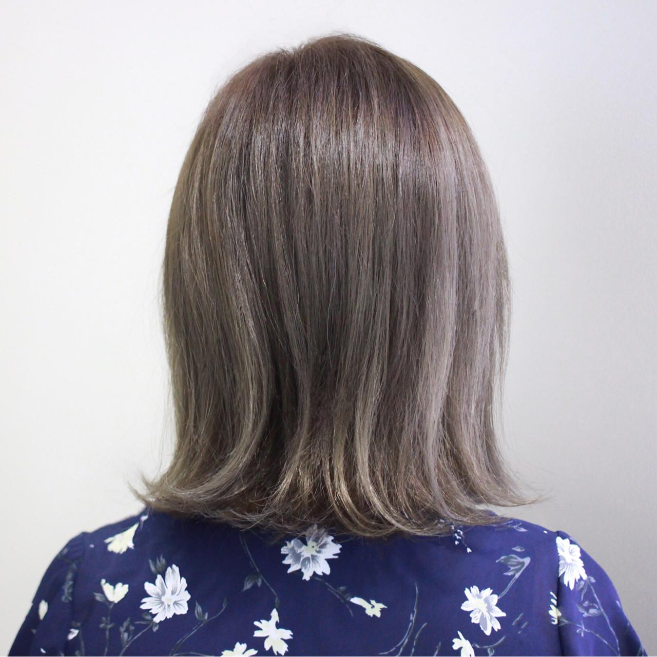 ハイライト ナチュラル イルミナカラー 外ハネ ヘアスタイルや髪型の写真・画像 | 西川 諒 / OSHARE DOROBO seed