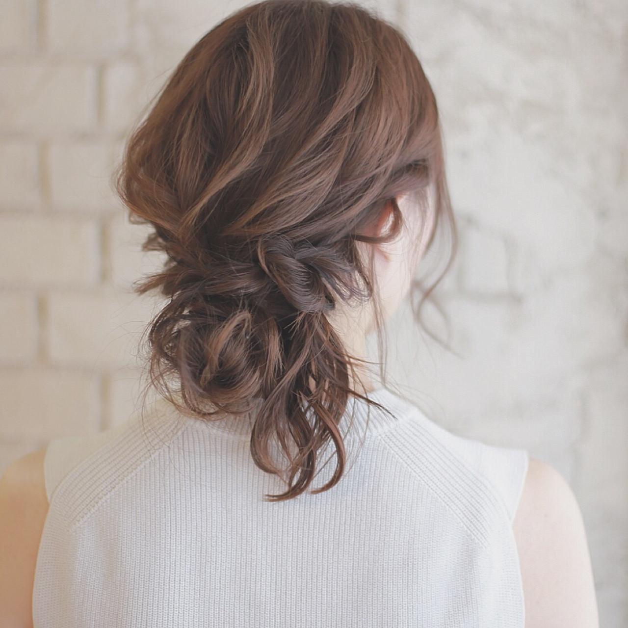 パーティ 簡単ヘアアレンジ ショート 結婚式 ヘアスタイルや髪型の写真・画像
