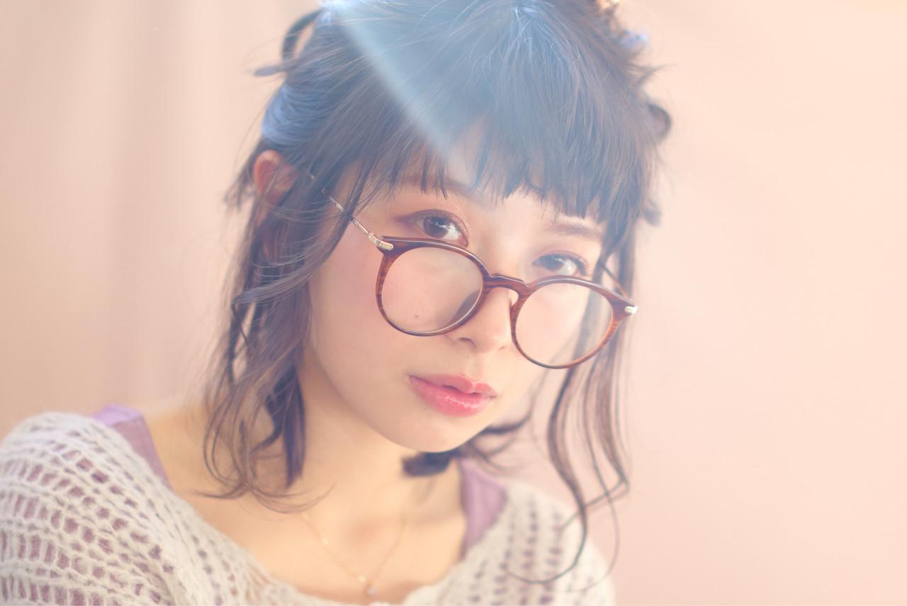 ヘアアレンジ ナチュラル ワンレングス 編み込み ヘアスタイルや髪型の写真・画像