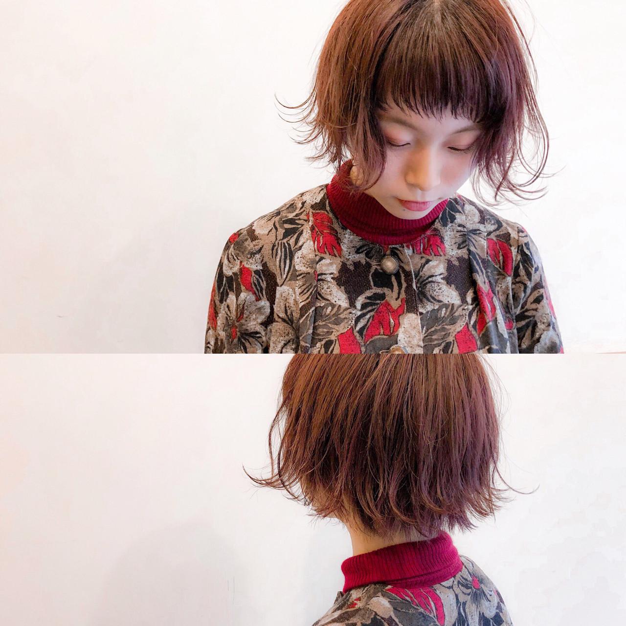 ピンク レッド 簡単ヘアアレンジ ヘアアレンジ ヘアスタイルや髪型の写真・画像 | 藤田 悠輔 / Pas de trois(パドトロワ)