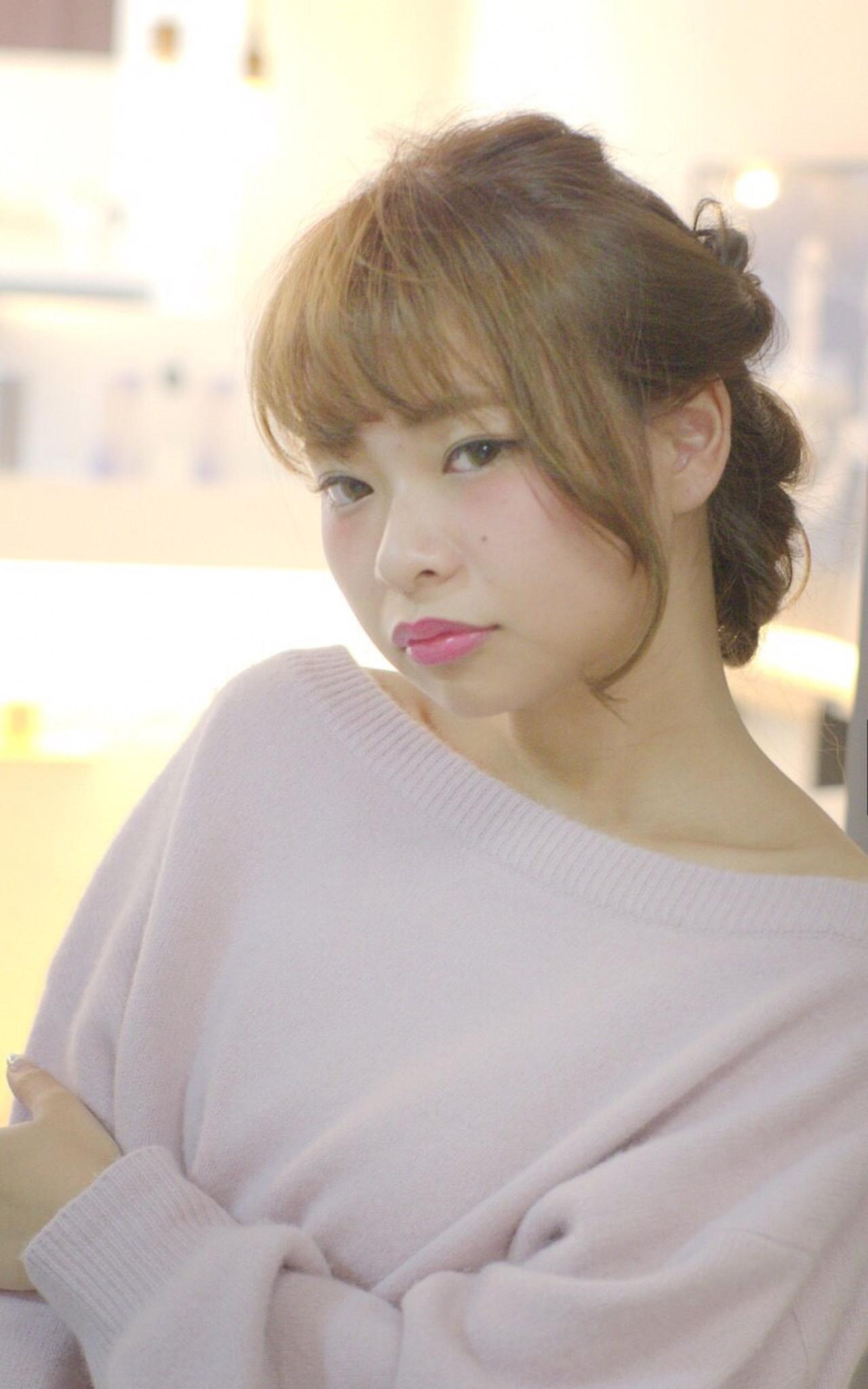 大人かわいい ショート 簡単ヘアアレンジ フェミニン ヘアスタイルや髪型の写真・画像 | くわした みずき /