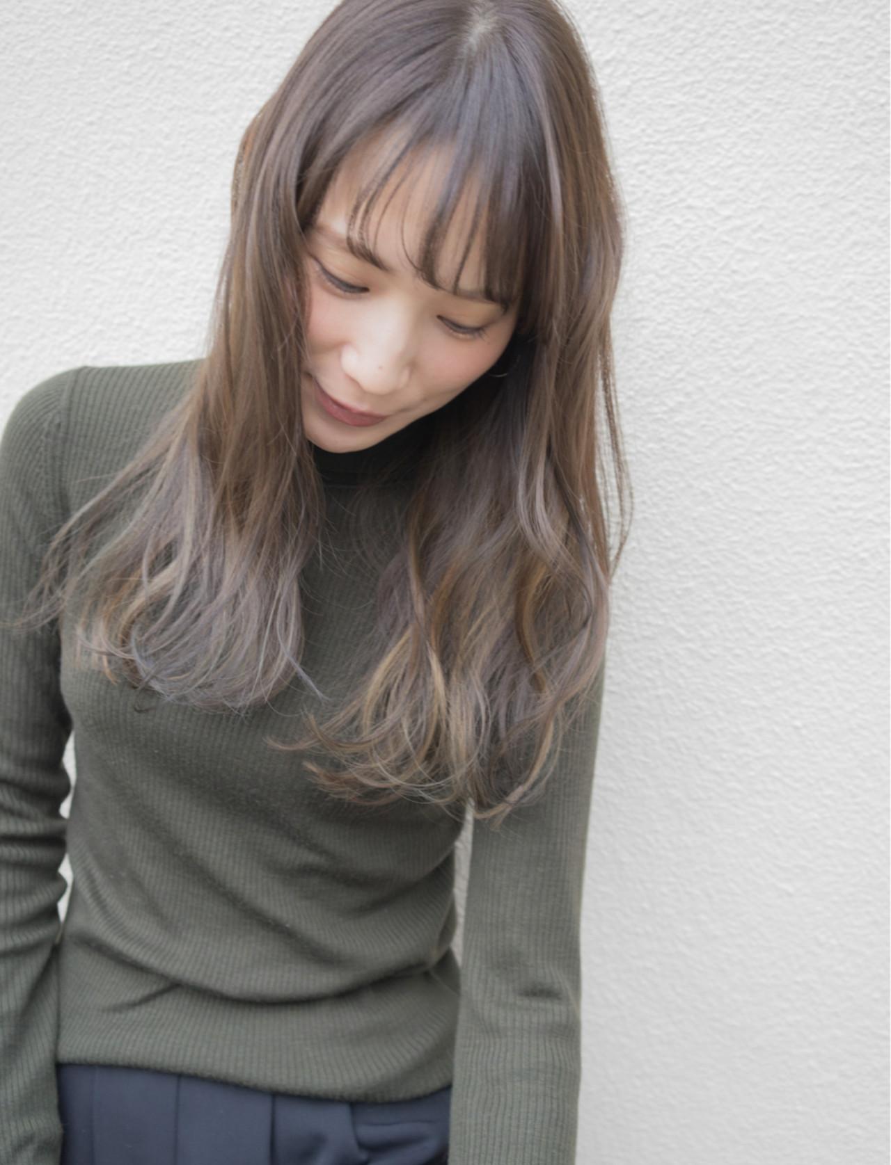 ハイライト ナチュラル グラデーションカラー 外国人風 ヘアスタイルや髪型の写真・画像