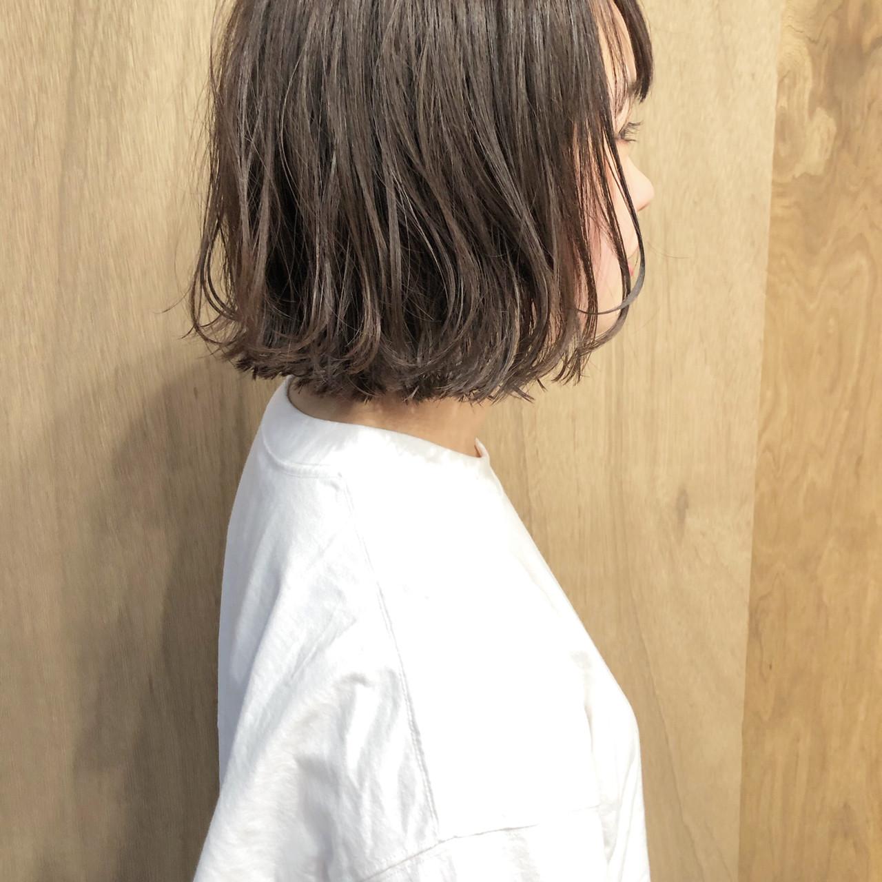 外ハネボブ ハンサムショート ナチュラル ミニボブ ヘアスタイルや髪型の写真・画像   松井勇樹 / TWiGGY  歩行町店