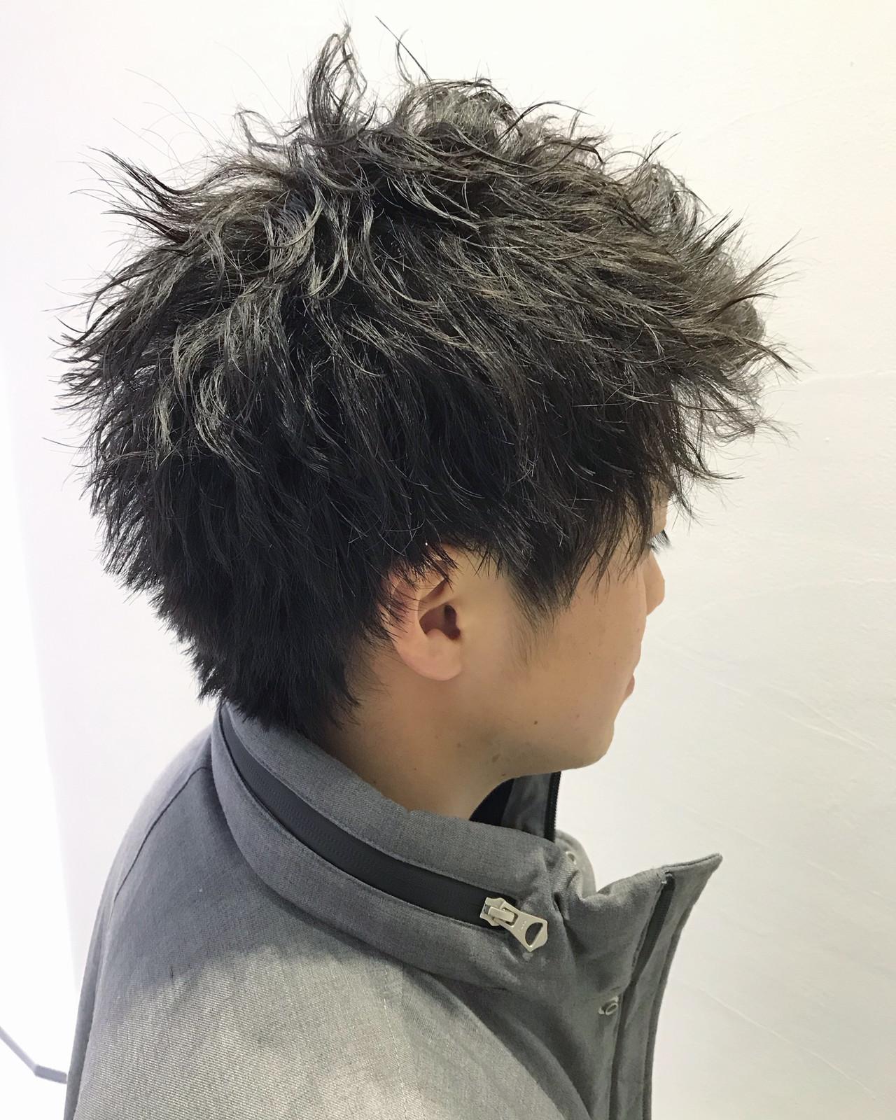 メンズパーマ メンズカジュアル メンズカット ナチュラル ヘアスタイルや髪型の写真・画像