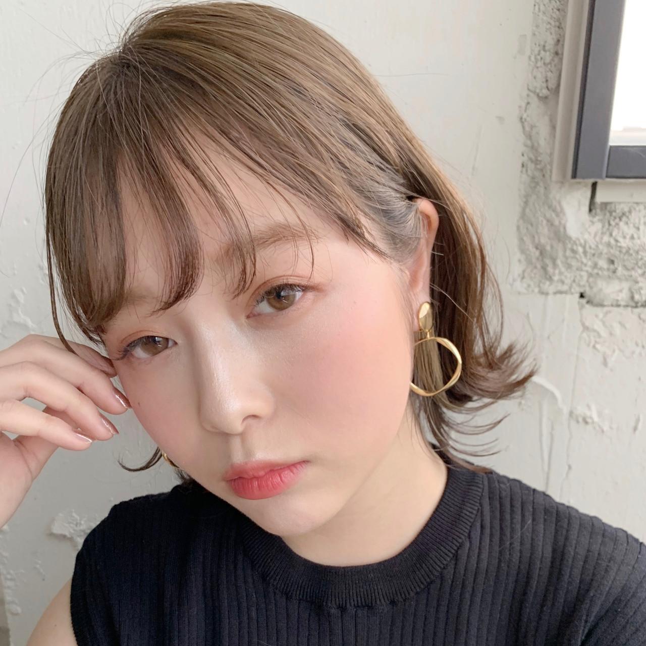 外ハネボブ ナチュラル ショートヘア ボブ ヘアスタイルや髪型の写真・画像   Natsuko Kodama 児玉奈都子 / dydi