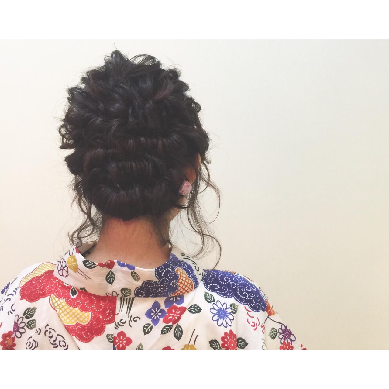 まとめ髪 ヘアアレンジ 夏 セミロング ヘアスタイルや髪型の写真・画像   ヤマキタ トシキ Neolive / Neolive CiroL.