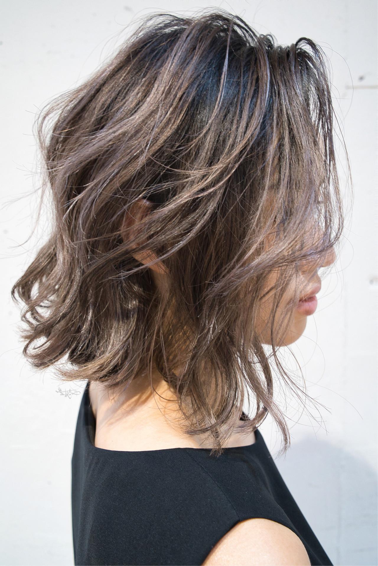 外国人風カラー ハイライト ローライト ガーリー ヘアスタイルや髪型の写真・画像