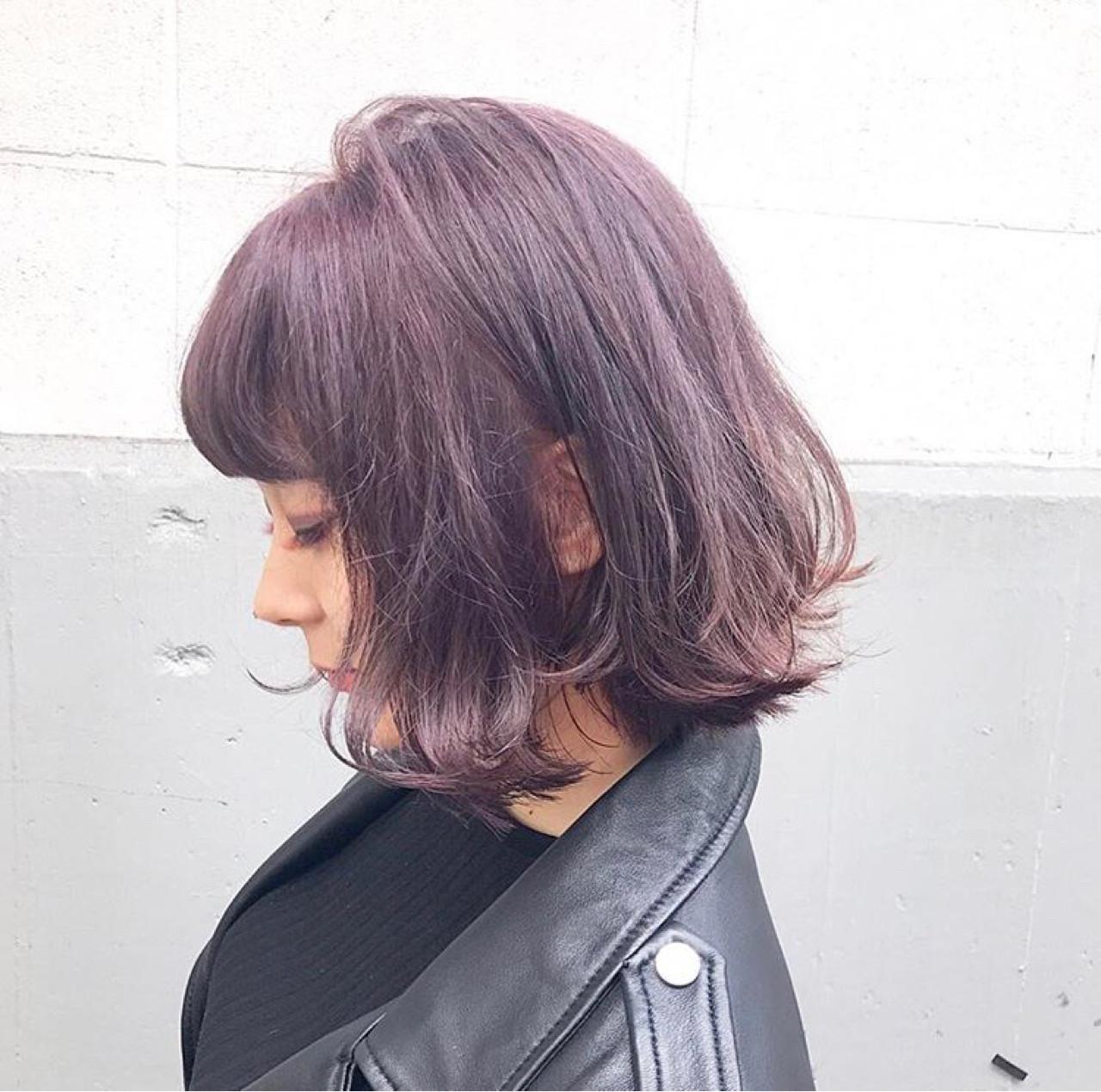 モード アンニュイ 秋 ハイライト ヘアスタイルや髪型の写真・画像