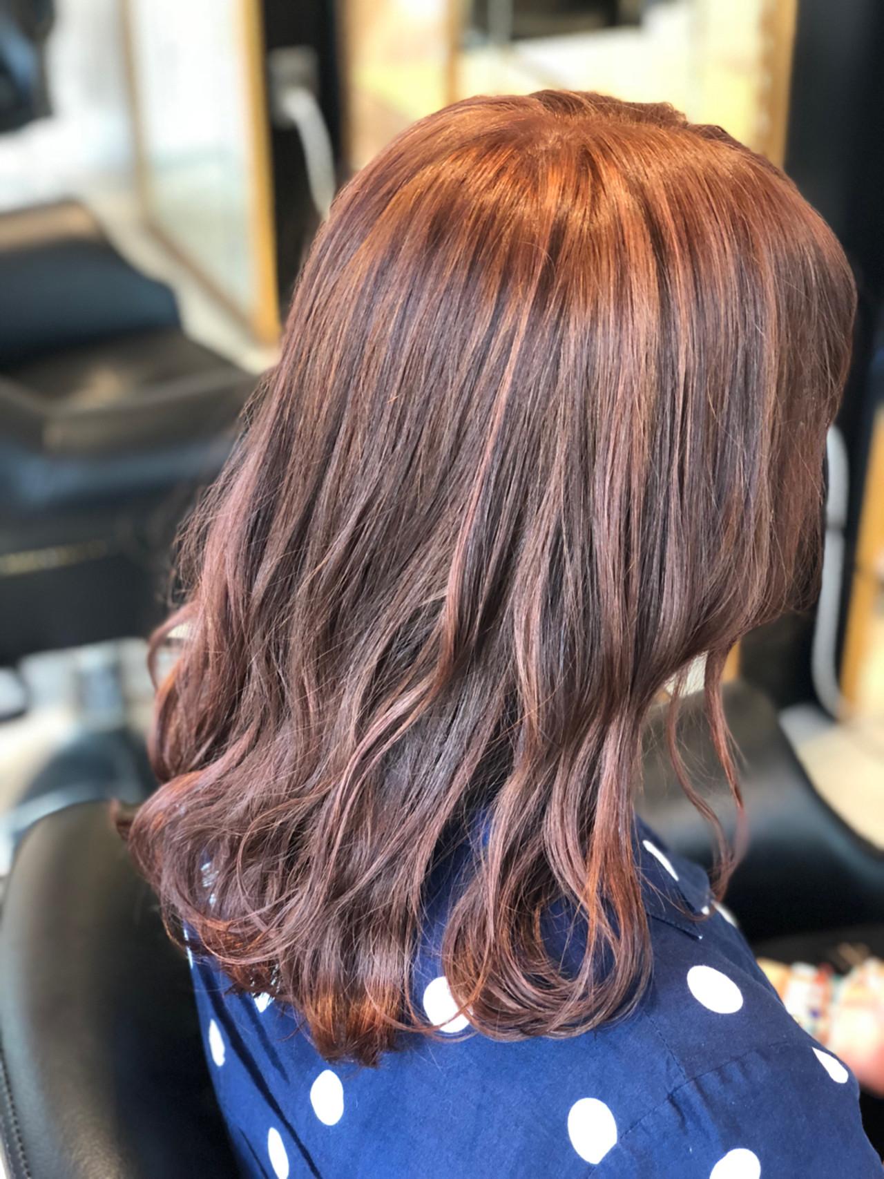 ストリート ブリーチ ピンク セミロング ヘアスタイルや髪型の写真・画像   永井大樹 / FENICE on the beach