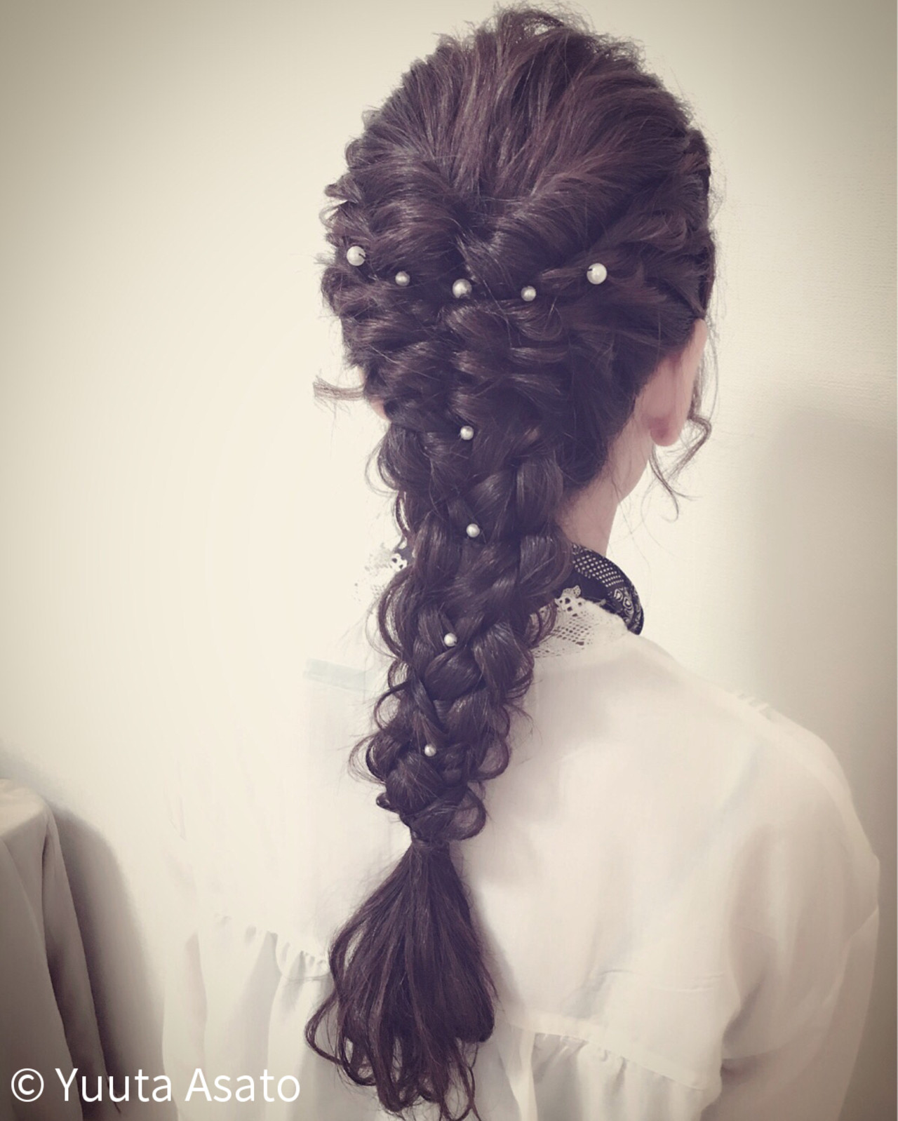 ロング ショート 簡単ヘアアレンジ くるりんぱ ヘアスタイルや髪型の写真・画像