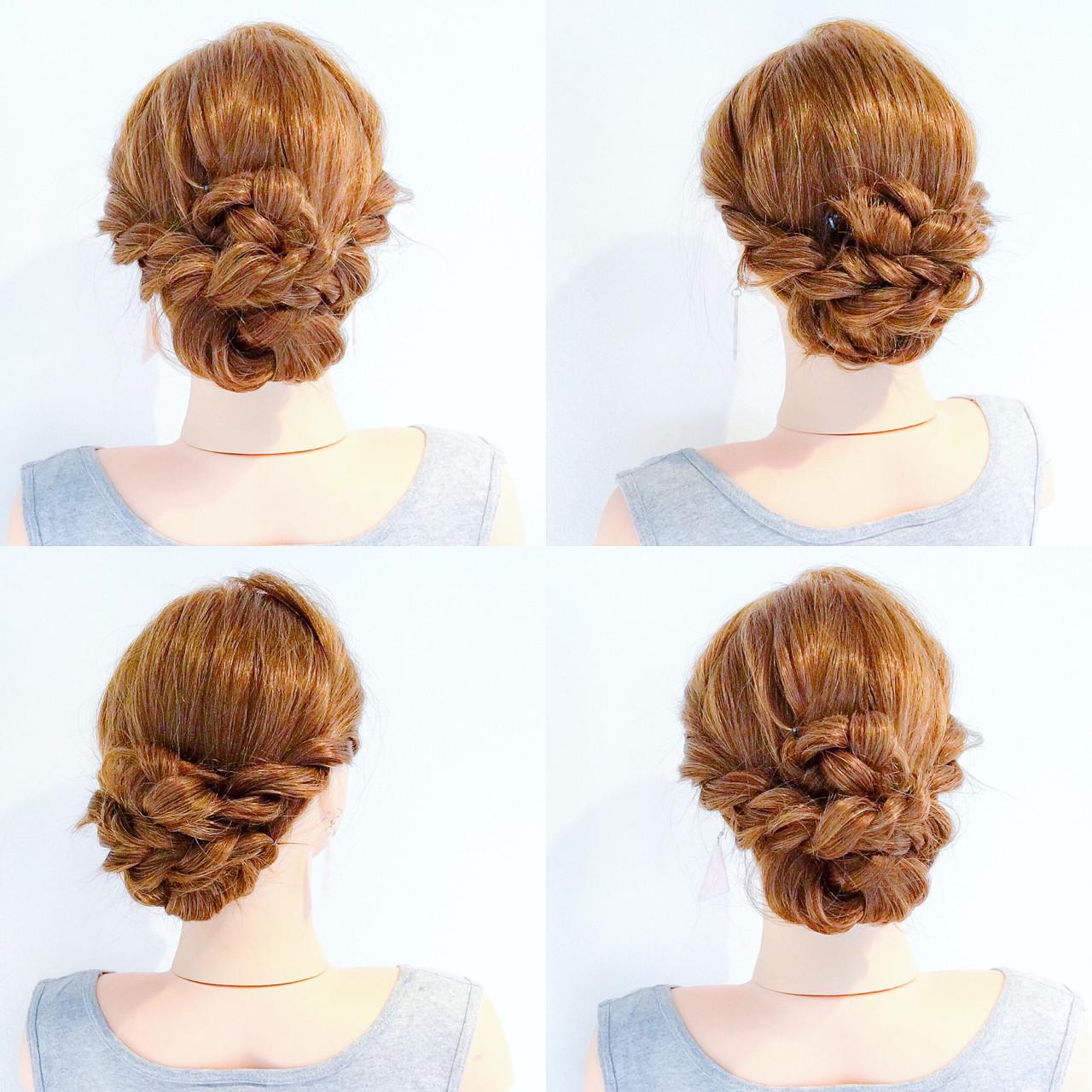 ヘアアレンジ ロング 結婚式 デート ヘアスタイルや髪型の写真・画像
