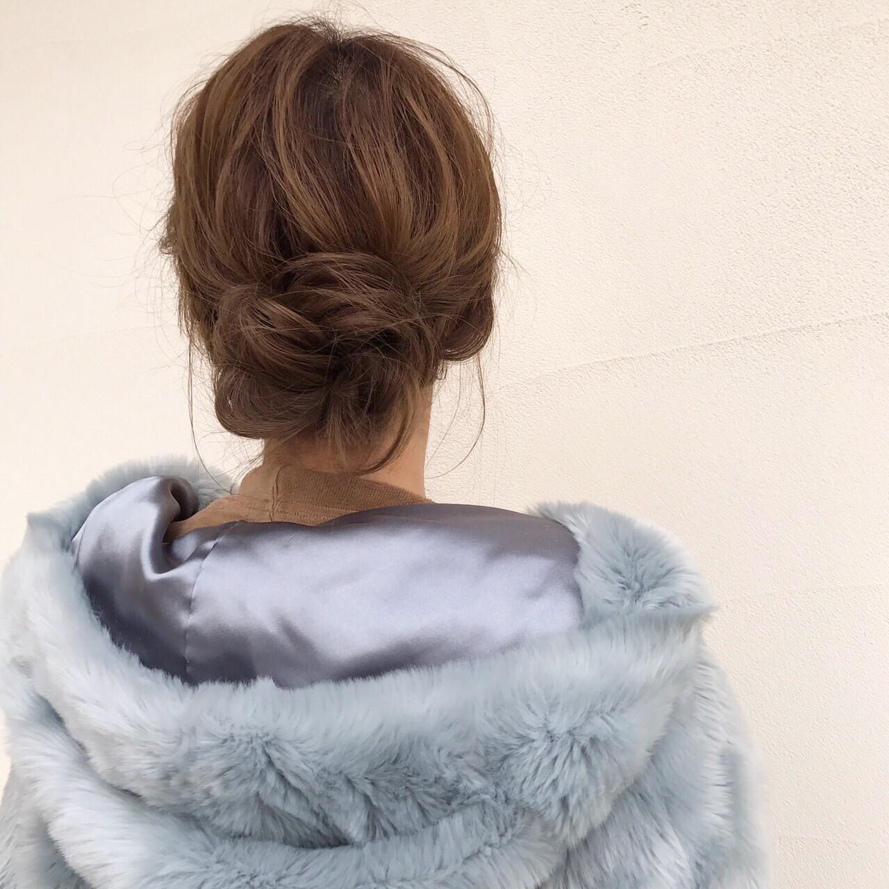 セミロング 大人女子 まとめ髪 簡単ヘアアレンジ ヘアスタイルや髪型の写真・画像   桑村亮太/CALIF hair store / 函館/CALIF hair store/キャリフ ヘアストア