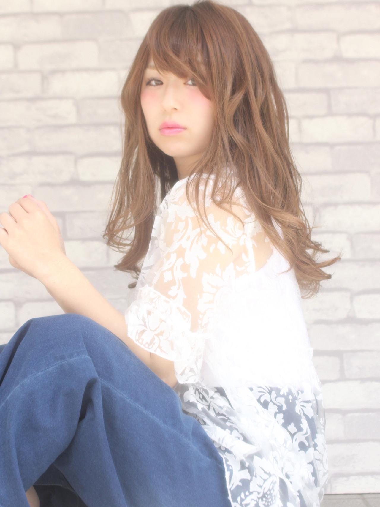 小顔 アンニュイ かわいい ニュアンス ヘアスタイルや髪型の写真・画像 | 山下 拓也 / パースィート 目黒