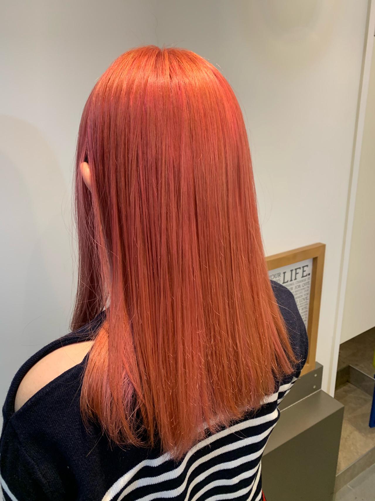 ブリーチカラー ロング デザインカラー ストレート ヘアスタイルや髪型の写真・画像 | Hatori Masaki / rela hair salon