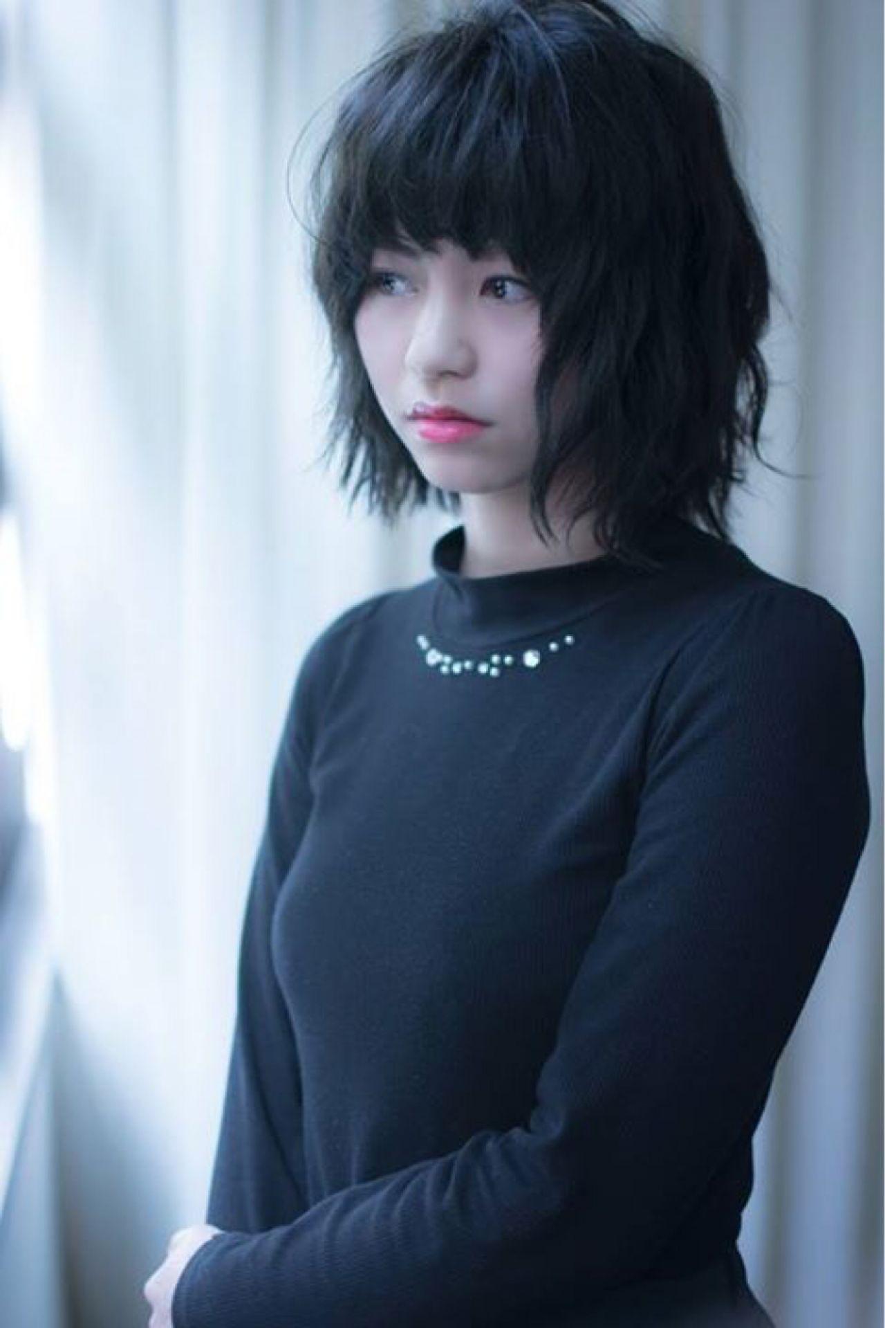ウェーブ 暗髪 黒髪 ストリート ヘアスタイルや髪型の写真・画像 | 田渕 英和/vicushair / vicushair