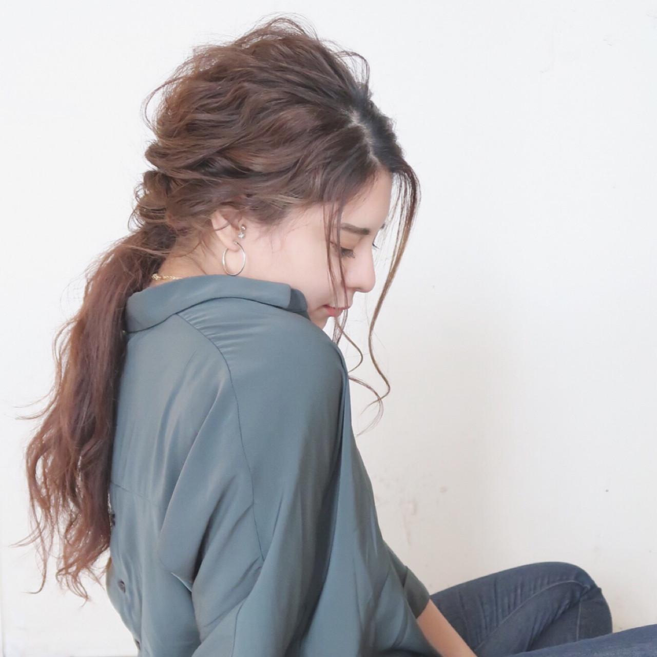 ゆるふわ 大人かわいい リラックス ナチュラル ヘアスタイルや髪型の写真・画像