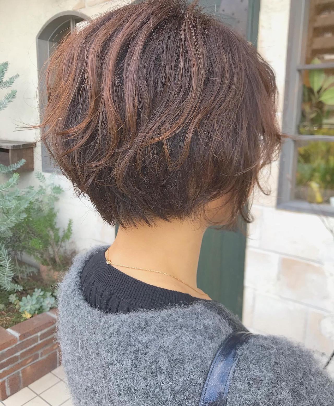 ボブ ニュアンスヘア 毛先パーマ ナチュラル ヘアスタイルや髪型の写真・画像 | Nakamura Mari / rocca