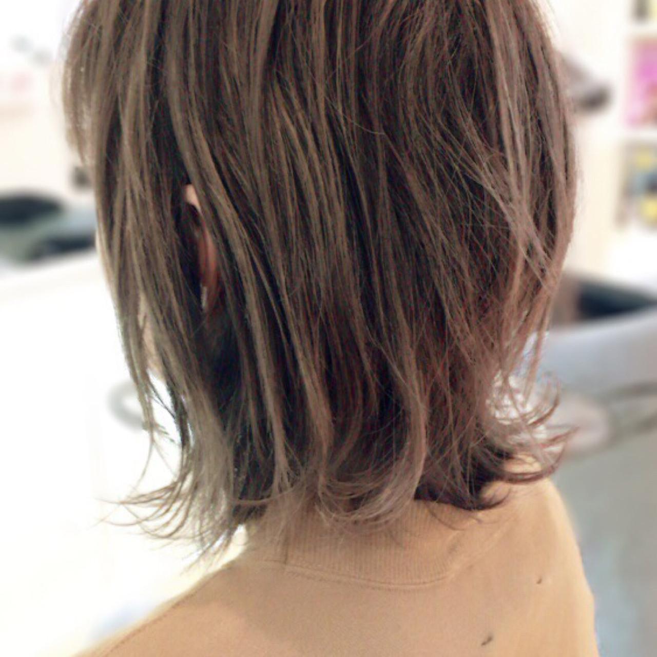 ロブ ミディアム 外ハネ ボブ ヘアスタイルや髪型の写真・画像