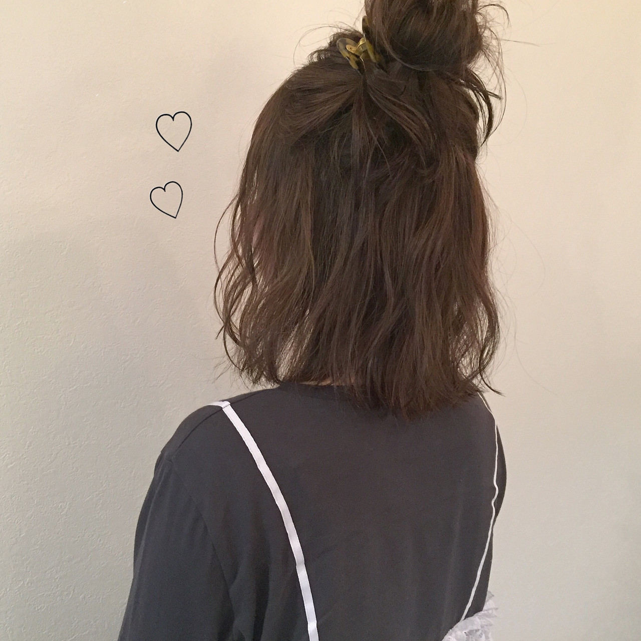 ゆるふわ ヘアアレンジ ナチュラル 簡単ヘアアレンジ ヘアスタイルや髪型の写真・画像