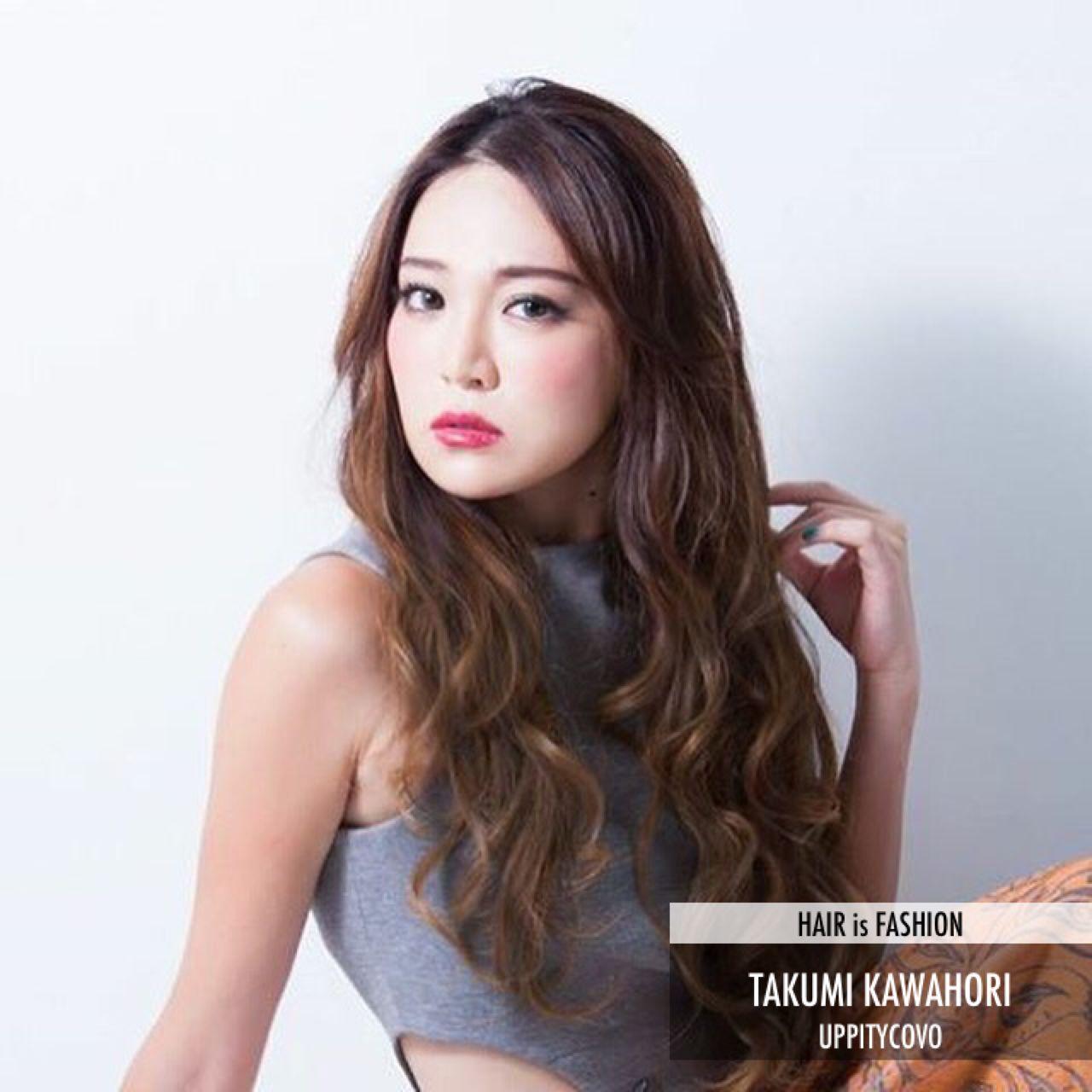 ゆるふわ フェミニン ロング グラデーションカラー ヘアスタイルや髪型の写真・画像 | TAKUMI KAWAHORI / ank classic