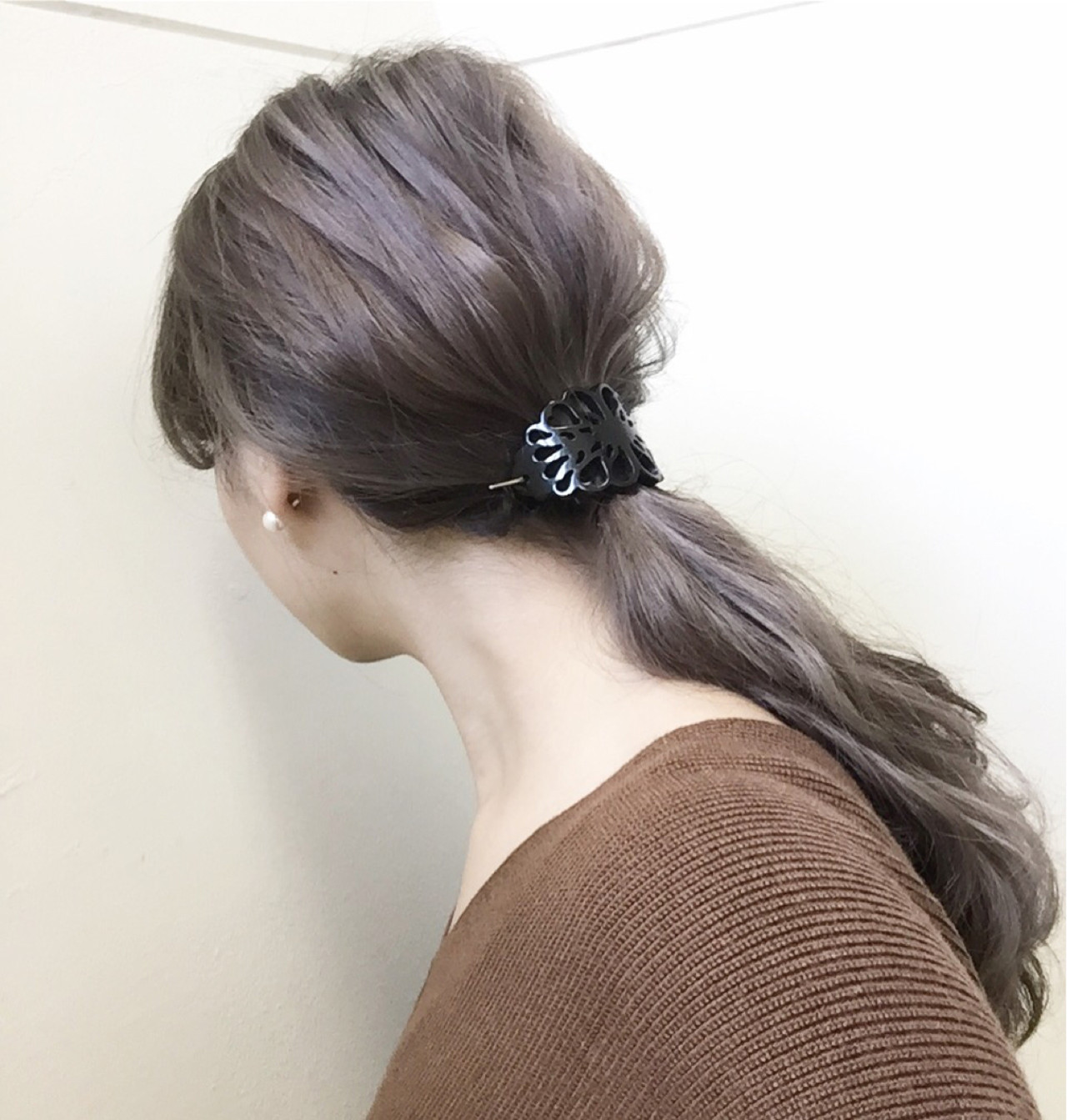ハイライト アッシュ 大人女子 ショート ヘアスタイルや髪型の写真・画像