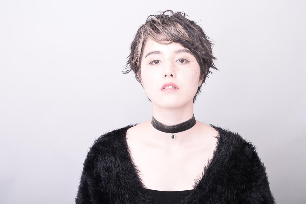 大人女子 小顔 ショート モード ヘアスタイルや髪型の写真・画像 | George / MODE K's RISE