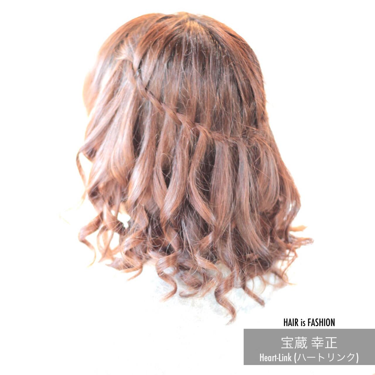 ボブ ウォーターフォール 結婚式 カール ヘアスタイルや髪型の写真・画像 | 宝蔵 幸正 / HairZone
