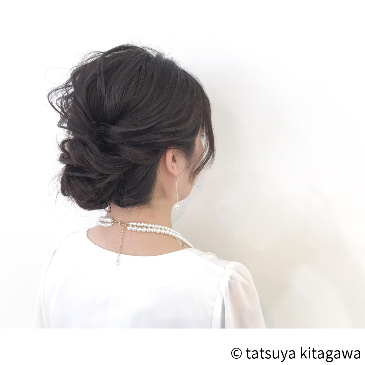 ヘアアレンジ 外国人風 二次会 結婚式 ヘアスタイルや髪型の写真・画像