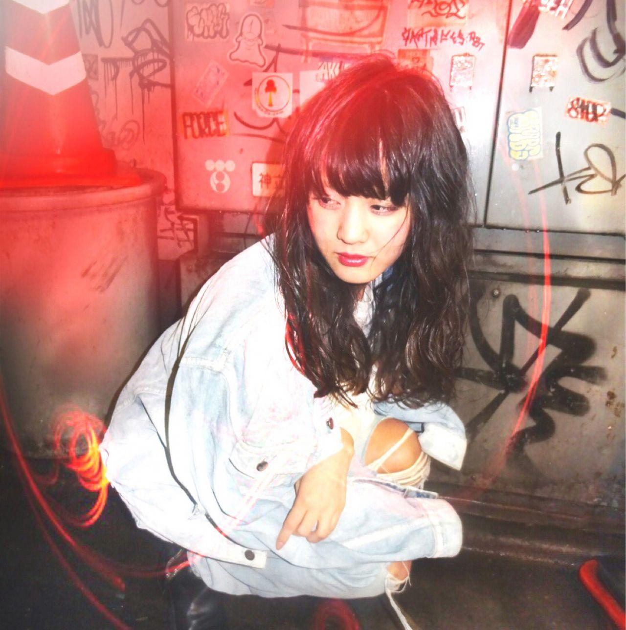 セミロング ウェーブ ストレート ウェットヘア ヘアスタイルや髪型の写真・画像 | Ryusei Maeda / free