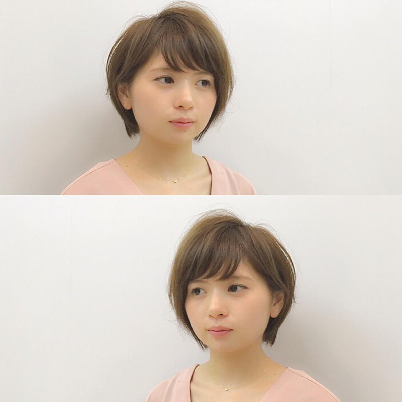 小顔 ボブ ショート ショートボブ ヘアスタイルや髪型の写真・画像 | Chiaki Mori / M.SLASH FIEL