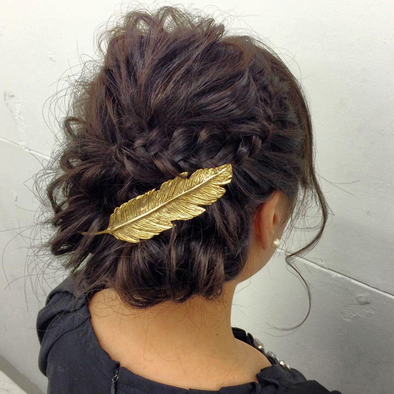 ゆるふわ フェミニン フィッシュボーン ヘアアレンジ ヘアスタイルや髪型の写真・画像