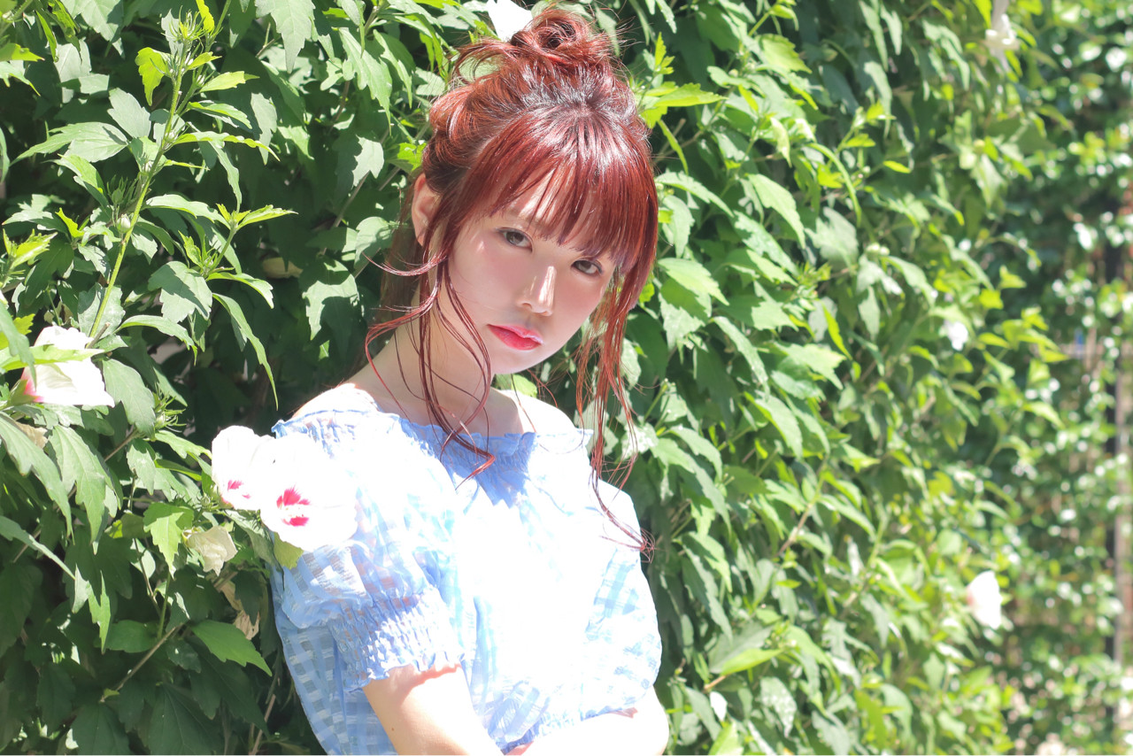 ナチュラル 色気 夏 簡単ヘアアレンジ ヘアスタイルや髪型の写真・画像