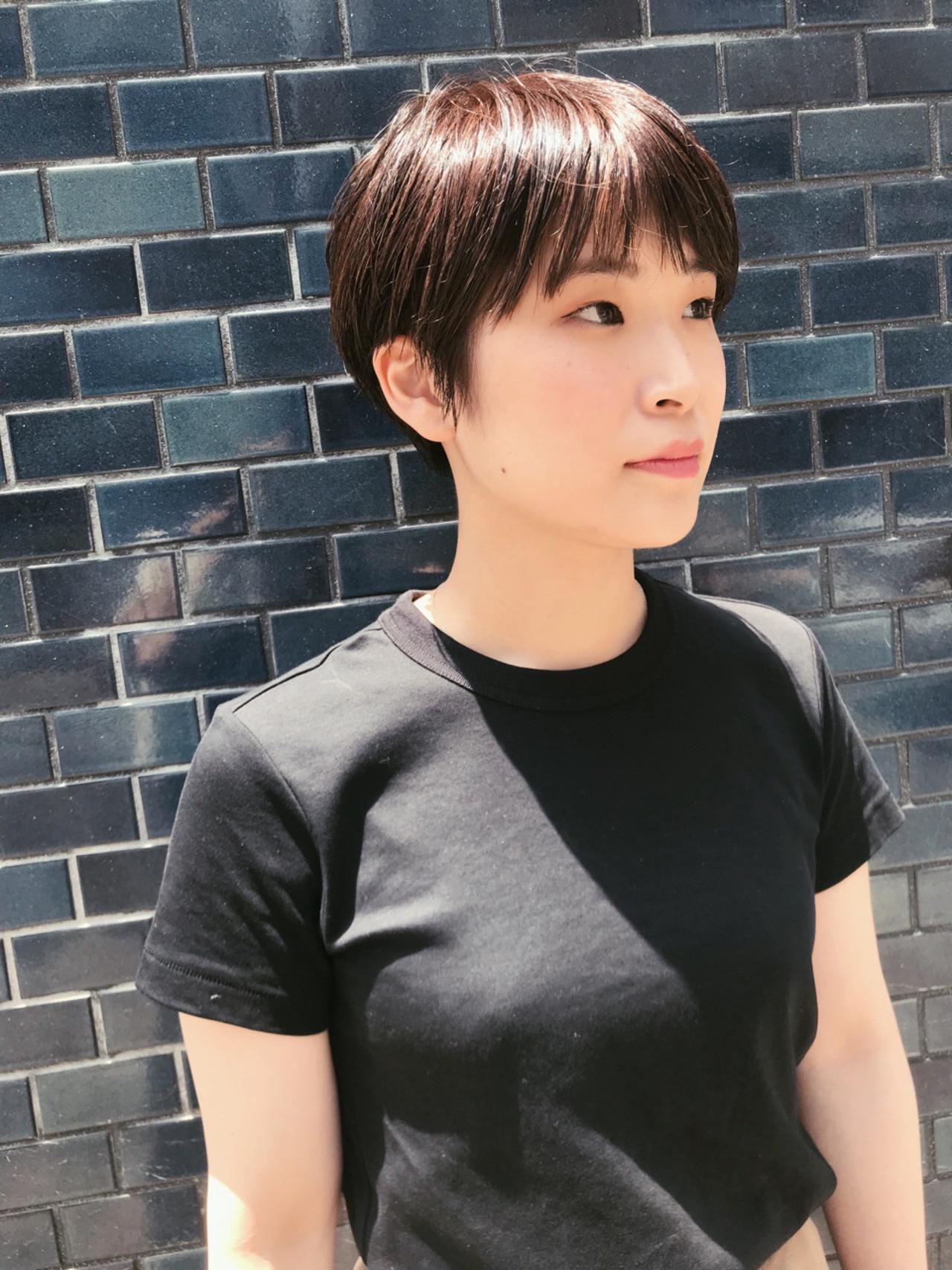 ショート ショートボブ ベージュ ピンク ヘアスタイルや髪型の写真・画像 | 仙頭郁弥 / LIM+LIM