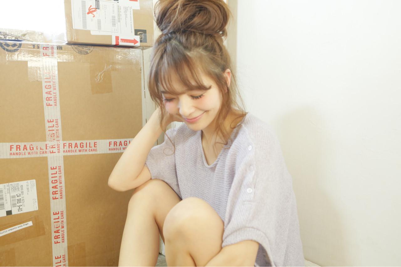 ショート ヘアアレンジ フェミニン 簡単ヘアアレンジ ヘアスタイルや髪型の写真・画像 | 清水桃子 / ミルクブッシュ / ミルクブッシュ