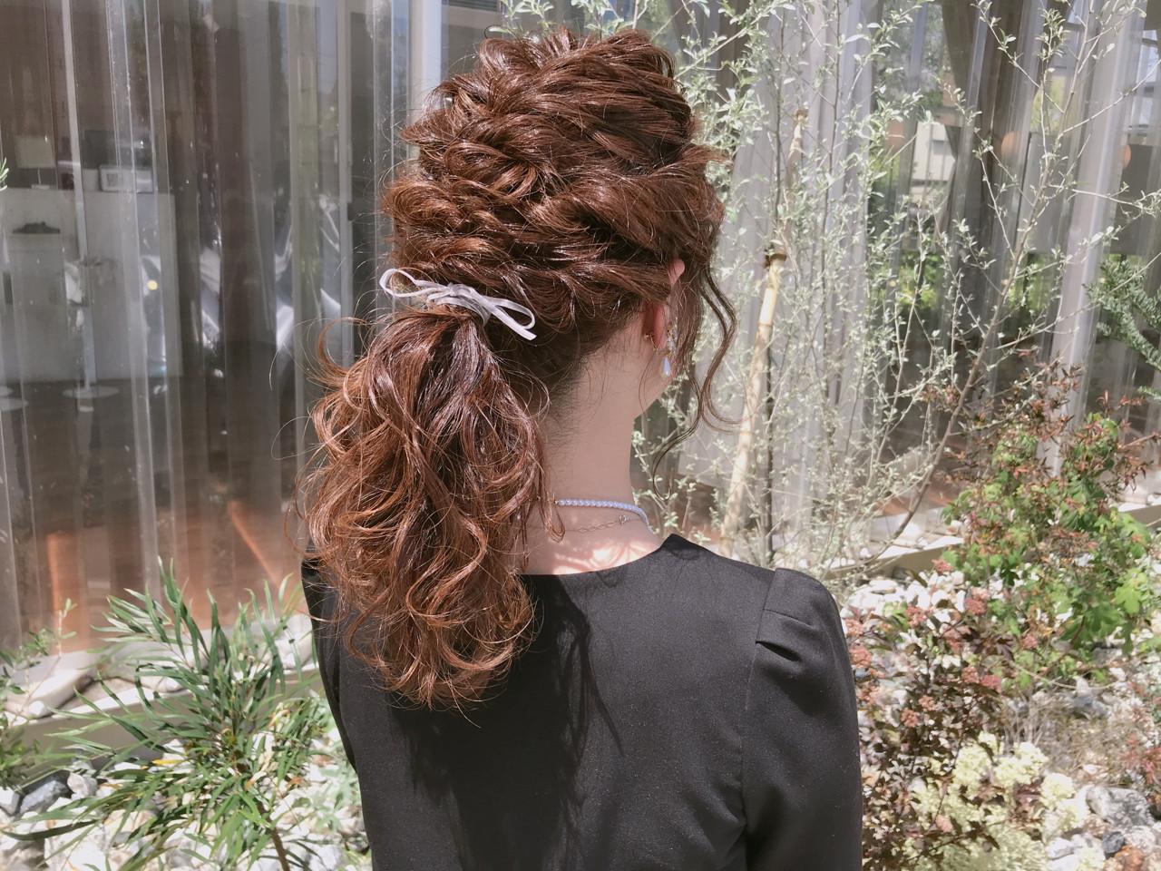 透明感 簡単ヘアアレンジ フェミニン 結婚式 ヘアスタイルや髪型の写真・画像